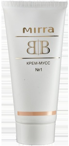BB No1 krém-mousse - pro světlou pleť s růžovým podtónem - studený barevný typ (30 ml)