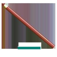 KONTUROVACÍ TUŽKA - růžovo skořicová 02 - dřevo 1,13 g